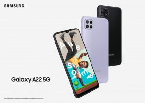 Samsung увеличава 5G портфолиото си с Galaxy A22 5G - мощно устройство на достъпна цена
